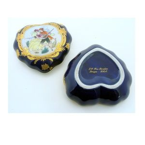 limoges Accents - Limoges heart box antique wedding china